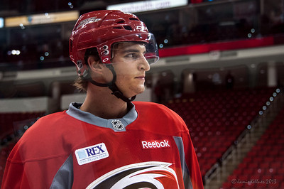 Brody Sutter. July 16, 2013.  Carolina Hurricanes Prospect Development Camp, PNC Arena, Raleigh, NC.  © 2013 Jamie Kellner. All Rights Reserved.