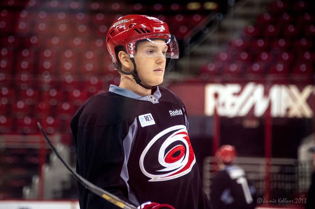 Tyler Ganly. July 16, 2013.  Carolina Hurricanes Prospect Development Camp, PNC Arena, Raleigh, NC.  © 2013 Jamie Kellner. All Rights Reserved.