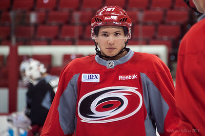 Sergey Tolchinsky. July 16, 2013.  Carolina Hurricanes Prospect Development Camp, PNC Arena, Raleigh, NC.  © 2013 Jamie Kellner. All Rights Reserved.