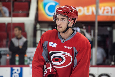 Brandon Shea. July 16, 2013.  Carolina Hurricanes Prospect Development Camp, PNC Arena, Raleigh, NC.  © 2013 Jamie Kellner. All Rights Reserved.