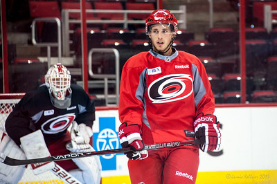 Elias Lindholm. July 16, 2013.  Carolina Hurricanes Prospect Development Camp, PNC Arena, Raleigh, NC.  © 2013 Jamie Kellner. All Rights Reserved.