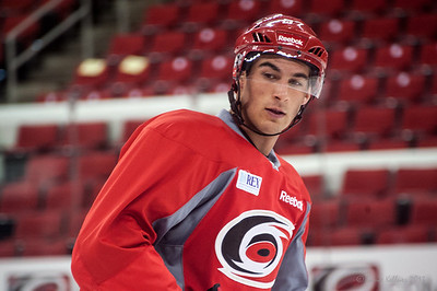 Brent Pedersen. July 16, 2013.  Carolina Hurricanes Prospect Development Camp, PNC Arena, Raleigh, NC.  © 2013 Jamie Kellner. All Rights Reserved.