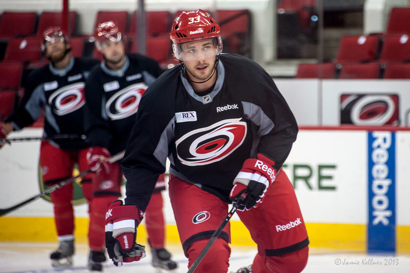 Michael Chiasson. July 16, 2013.  Carolina Hurricanes Prospect Development Camp, PNC Arena, Raleigh, NC.  © 2013 Jamie Kellner. All Rights Reserved.