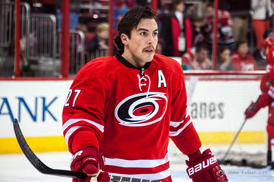 Justin Faulk. November 12, 2013. Carolina Hurricanes vs. Colorado Avalanche, PNC Arena, Raleigh, NC.  Copyright © 2013 Jamie Kellner. All rights reserved.