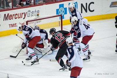 January 27, 2014. Carolina Hurricanes vs. Columbus Blue Jackets, PNC Arena, Raleigh, NC.  Copyright © 2014 Jamie Kellner. All rights reserved.