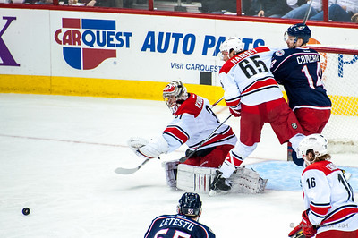 March 29, 2014. Carolina Hurricanes vs Columbus Blue Jackets, PNC Arena, Raleigh, NC.  Copyright © 2014 Jamie Kellner. All Rights Reserved.