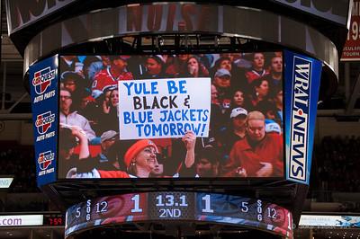 December 23, 2013. Carolina Hurricanes vs. Columbus Blue Jackets, PNC Arena, Raleigh, NC.  Copyright © 2013 Jamie Kellner. All rights reserved.