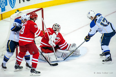 January 31, 2014. Carolina Hurricanes vs. St. Louis Blues, PNC Arena, Raleigh, NC. Copyright © 2014 Jamie Kellner. All rights reserved.