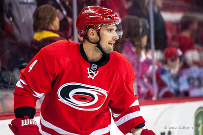 Andrej Sekera. January 31, 2014. Carolina Hurricanes vs. St. Louis Blues, PNC Arena, Raleigh, NC. Copyright © 2014 Jamie Kellner. All rights reserved.