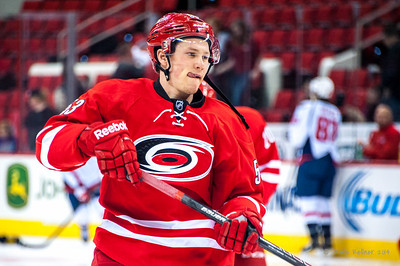 Jeff Skinner. April 10, 2014. Carolina Hurricanes vs. Washington Capitals, PNC Arena, Raleigh, NC. Copyright © 2014 Jamie Kellner. All Rights Reserved.