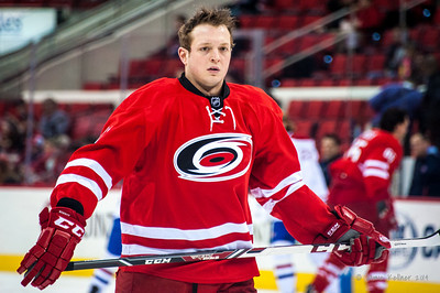 Drayson Bowman. February 8, 2014. Carolina Hurricanes vs. Montreal Canadiens, PNC Arena, Raleigh, NC.  Copyright © 2014 Jamie Kellner. All Rights Reserved.