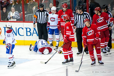 February 8, 2014. Carolina Hurricanes vs. Montreal Canadiens, PNC Arena, Raleigh, NC.  Copyright © 2014 Jamie Kellner. All Rights Reserved.