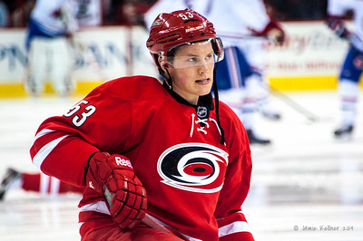 Jeff Skinner. February 8, 2014. Carolina Hurricanes vs. Montreal Canadiens, PNC Arena, Raleigh, NC.  Copyright © 2014 Jamie Kellner. All Rights Reserved.