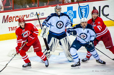 February 4, 2014. Carolina Hurricanes vs. Winnipeg Jets, PNC Arena, Raleigh, NC.  Copyright © 2014 Jamie Kellner. All Rights Reserved.