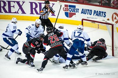 January 19, 2014. Carolina Hurricanes vs. Tampa Bay Lightning, PNC Arena, Raleigh, NC. Copyright © 2014 Jamie Kellner. All rights reserved.