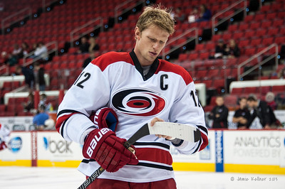 Eric Staal. November 1, 2013.  Carolina Hurricanes vs. Tampa Bay Lightning, PNC Arena, Raleigh, NC.  Copyright © 2013 Jamie Kellner. All rights reserved.