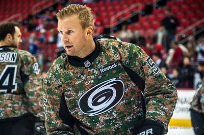 Mike Komisarek. March 16, 2014. Carolina Hurricanes vs. Edmonton Oilers, PNC Arena, Raleigh, NC. Copyright © 2014 Jamie Kellner. All Rights Reserved.