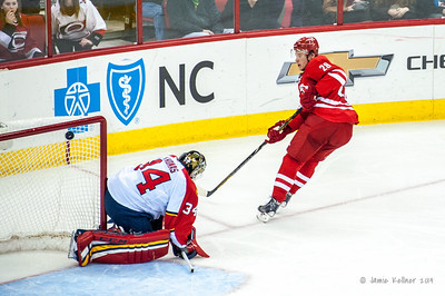 Alex Semin's shorthanded goal. January 18, 2014. Carolina Hurricanes vs. Florida Panthers, PNC Arena, Raleigh, NC.  Copyright © 2014 Jamie Kellner. All rights reserved.
