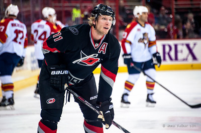 Jordan Staal. February 7, 2014. Carolina Hurricanes vs. Florida Panthers, PNC Arena, Raleigh, NC. Copyright © 2014 Jamie Kellner. All rights reserved.