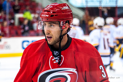Aaron Palushaj. January 5, 2014. Carolina Hurricanes vs. Nashville Predators, PNC Arena, Raleigh, NC.  Copyright © 2014 Jamie Kellner. All rights reserved.