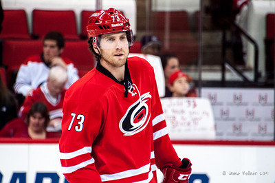 Brett Bellemore. January 5, 2014. Carolina Hurricanes vs. Nashville Predators, PNC Arena, Raleigh, NC.  Copyright © 2014 Jamie Kellner. All rights reserved.