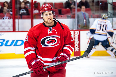 John-Micheal Liles. January 5, 2014. Carolina Hurricanes vs. Nashville Predators, PNC Arena, Raleigh, NC.  Copyright © 2014 Jamie Kellner. All rights reserved.