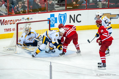 January 5, 2014. Carolina Hurricanes vs. Nashville Predators, PNC Arena, Raleigh, NC.  Copyright © 2014 Jamie Kellner. All rights reserved.