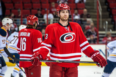 Brett Bellemore. March 13, 2014. Carolina Hurricanes vs. Buffalo Sabres, PNC Arena, Raleigh, NC. Copyright © 2014 Jamie Kellner. All Rights Reserved.