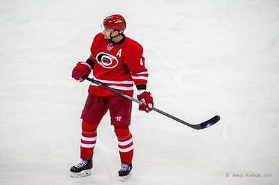 Andrej Sekera. March 13, 2014. Carolina Hurricanes vs. Buffalo Sabres, PNC Arena, Raleigh, NC. Copyright © 2014 Jamie Kellner. All Rights Reserved.