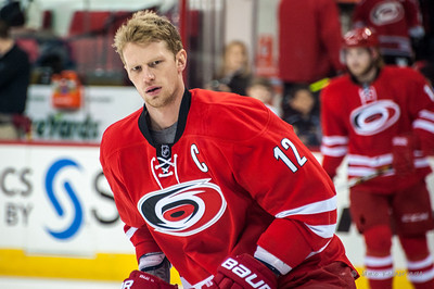 Eric Staal. March 13, 2014. Carolina Hurricanes vs. Buffalo Sabres, PNC Arena, Raleigh, NC. Copyright © 2014 Jamie Kellner. All Rights Reserved.