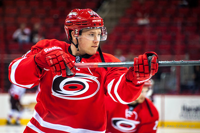Jeff Skinner. January 25, 2014. Carolina Hurricanes vs. Ottawa Senators, PNC Arena, Raleigh, NC. Copyright © 2014 Jamie Kellner. All rights reserved.