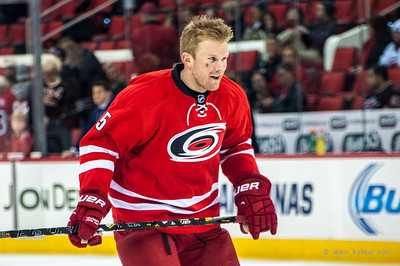 Mike Komisarek. January 25, 2014. Carolina Hurricanes vs. Ottawa Senators, PNC Arena, Raleigh, NC. Copyright © 2014 Jamie Kellner. All rights reserved.
