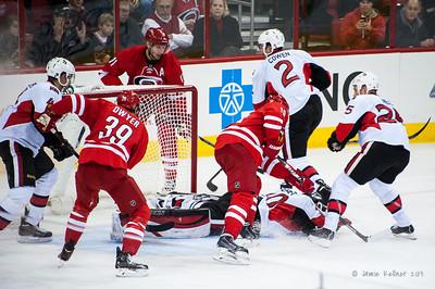 November 24, 2013.  Carolina Hurricanes vs. Ottawa Senators, PNC Arena, Raleigh, NC. Copyright © 2013 Jamie Kellner. All rights reserved.