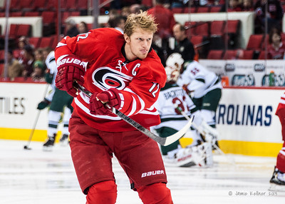 Eric Staal. November 9, 2013.  Carolina Hurricanes vs. Minnesota Wild, PNC Arena, Raleigh, NC.  Copyright © 2013 Jamie Kellner. All rights reserved.