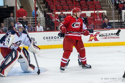 September 18, 2013. Carolina Hurricanes vs. Columbus Blue Jackets, PNC Arena, Raleigh, NC.  Copyright © 2013 Jamie Kellner. All rights reserved.
