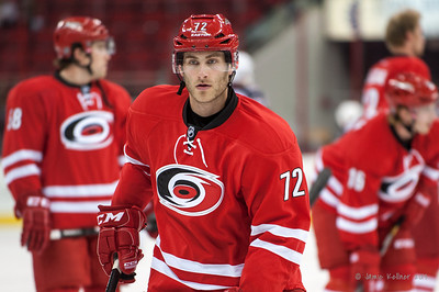 Nicolas Blanchard. September 18, 2013. Carolina Hurricanes vs. Columbus Blue Jackets, PNC Arena, Raleigh, NC.  Copyright © 2013 Jamie Kellner. All rights reserved.