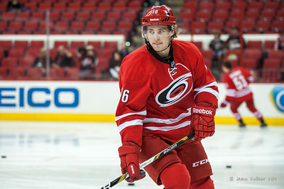 Elias Lindholm. September 18, 2013. Carolina Hurricanes vs. Columbus Blue Jackets, PNC Arena, Raleigh, NC.  Copyright © 2013 Jamie Kellner. All rights reserved.