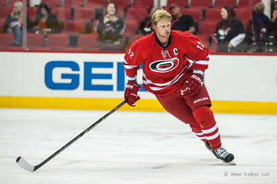 Eric Staal. September 18, 2013. Carolina Hurricanes vs. Columbus Blue Jackets, PNC Arena, Raleigh, NC.  Copyright © 2013 Jamie Kellner. All rights reserved.