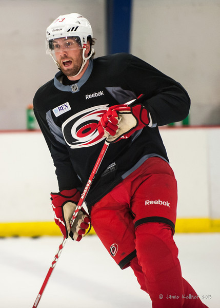 Brett Bellemore. August 22, 2013. Carolina Hurricanes preseason skate at Raleigh Center Ice, Raleigh, NC.  Copyright © 2013 Jamie Kellner. All rights reserved.