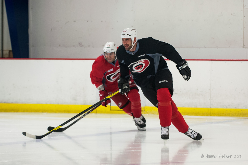 August 22, 2013. Carolina Hurricanes preseason skate at Raleigh Center Ice, Raleigh, NC.  Copyright © 2013 Jamie Kellner. All rights reserved.