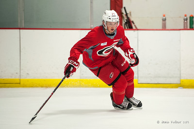 Drayson Bowman. August 26, 2013. Carolina Hurricanes preseason skate at Raleigh Center Ice, Raleigh, NC.  Copyright © 2013 Jamie Kellner. All rights reserved.