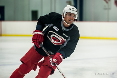Andrej Sekera. August 30, 2013.  Carolina Hurricanes preseason practice at Raleigh Center Ice, Raleigh, NC.  Copyright © 2013 Jamie Kellner. All rights reserved.