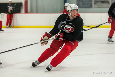 Brett Bellemore. August 30, 2013.  Carolina Hurricanes preseason practice at Raleigh Center Ice, Raleigh, NC.  Copyright © 2013 Jamie Kellner. All rights reserved.