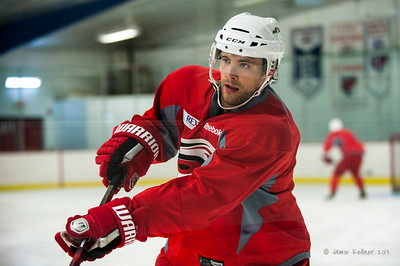 Tuomo Ruutu. August 30, 2013.  Carolina Hurricanes preseason practice at Raleigh Center Ice, Raleigh, NC.  Copyright © 2013 Jamie Kellner. All rights reserved.