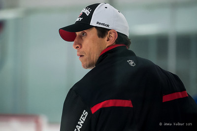 Rod Brind'Amour. October 12, 2013.  Carolina Hurricanes practice at Raleigh Center Ice, Raleigh, NC.  Copyright © 2013 Jamie Kellner. All rights reserved.