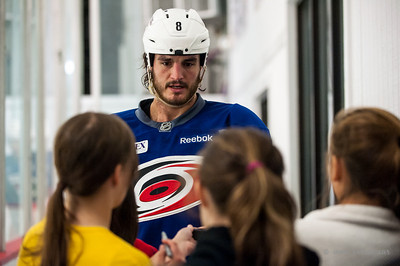 Kevin Westgarth. October 12, 2013.  Carolina Hurricanes practice at Raleigh Center Ice, Raleigh, NC.  Copyright © 2013 Jamie Kellner. All rights reserved.