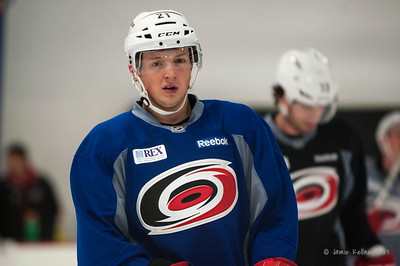 Drayson Bowman. October 12, 2013.  Carolina Hurricanes practice at Raleigh Center Ice, Raleigh, NC.  Copyright © 2013 Jamie Kellner. All rights reserved.
