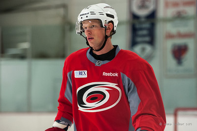 Eric Staal. October 12, 2013.  Carolina Hurricanes practice at Raleigh Center Ice, Raleigh, NC.  Copyright © 2013 Jamie Kellner. All rights reserved.