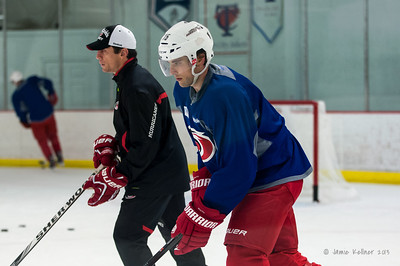 October 12, 2013.  Carolina Hurricanes practice at Raleigh Center Ice, Raleigh, NC.  Copyright © 2013 Jamie Kellner. All rights reserved.