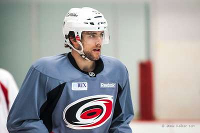 Tuomo Ruutu. January 16, 2014. Carolina Hurricanes practice at Raleigh Center Ice, Raleigh, NC.  Copyright © 2014 Jamie Kellner. All rights reserved.